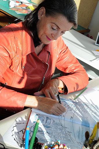 Claudia de Weck, Illustratorin/Autorin, Zürich 2004